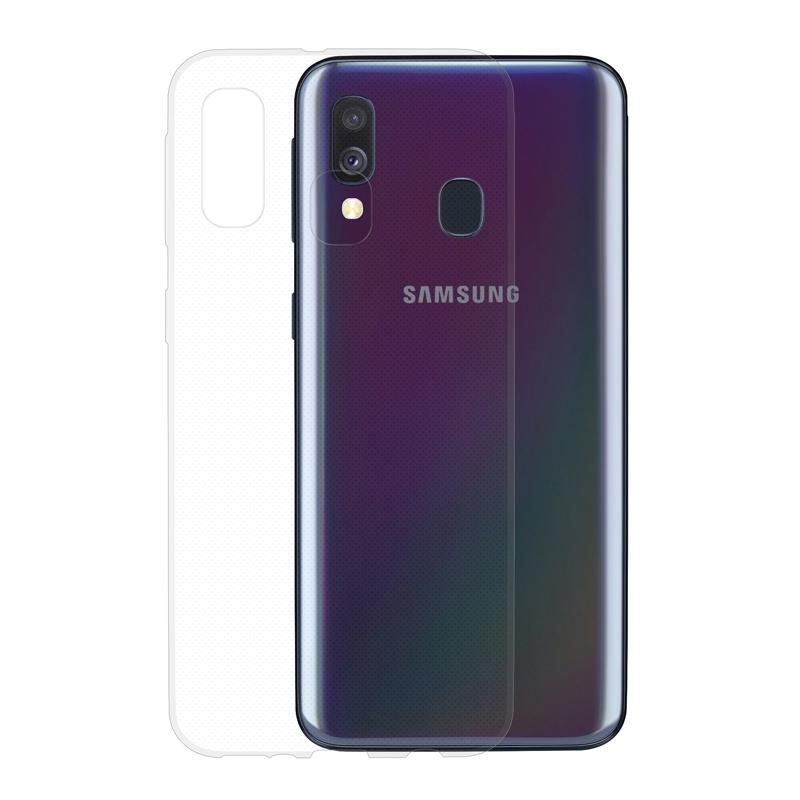 Gumené puzdro na Samsung Galaxy A40 transparentné