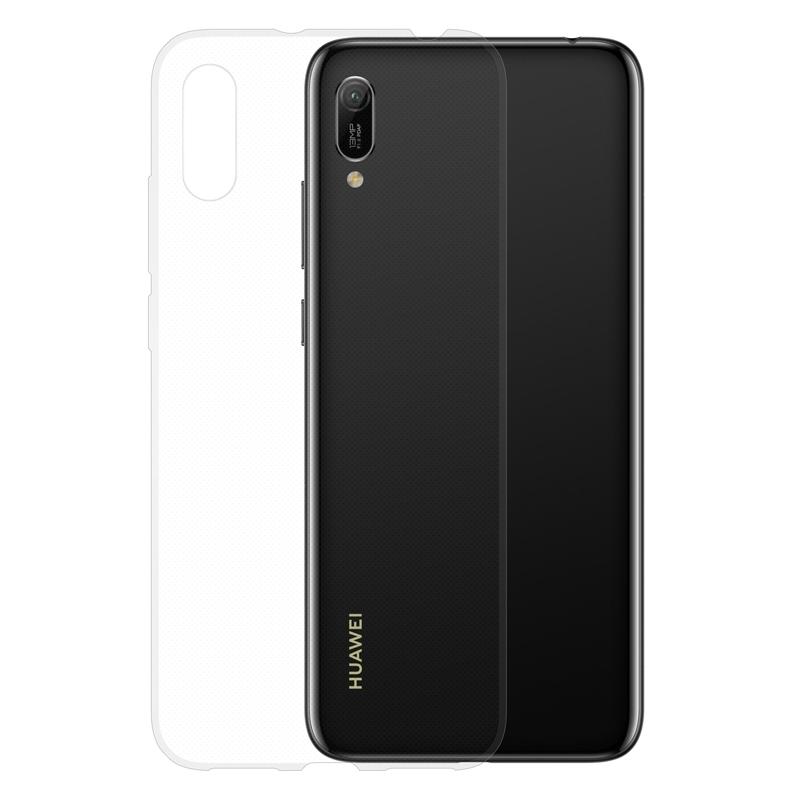 Gumové pouzdro na Huawei Y6 2019 transparentní