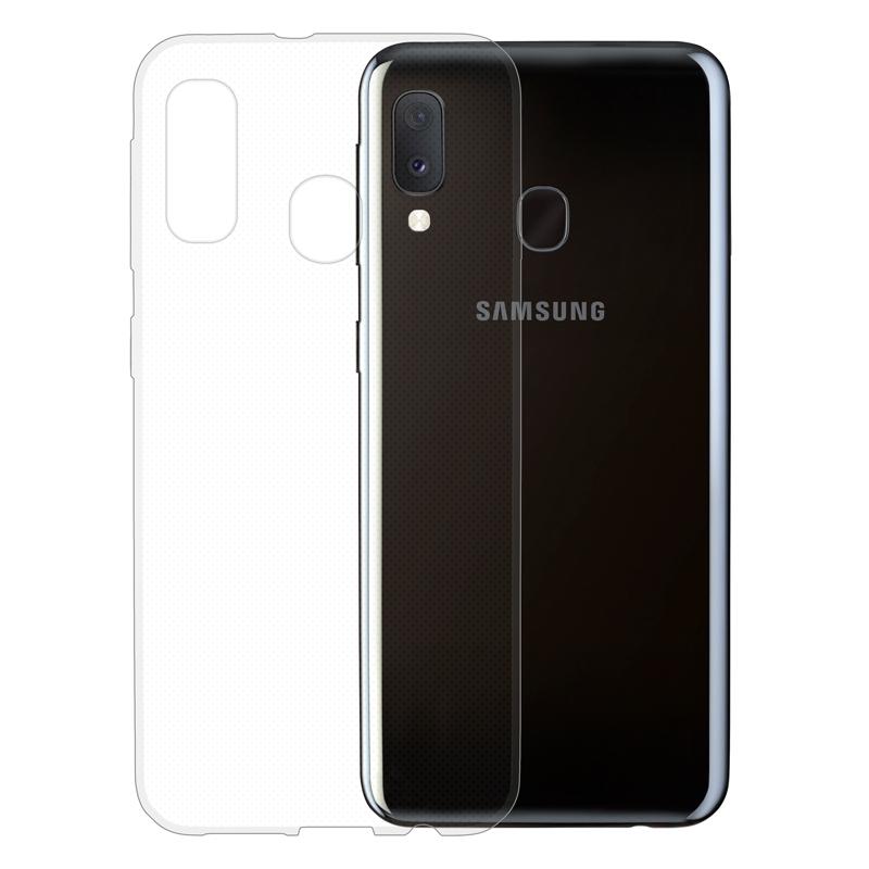 Gumové pouzdro na Samsung Galaxy A20e transparentní