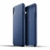 MUJJO kožené puzdro na iPhone XR modré
