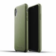 MUJJO kožené puzdro na iPhone XR olivové