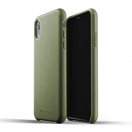 MUJJO kožené pouzdro pro Apple iPhone Xr olivové