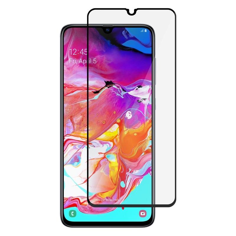 Ochranné sklo na Samsung Galaxy A70 čierne