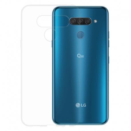 Gumené puzdro na LG Q60 transparentné
