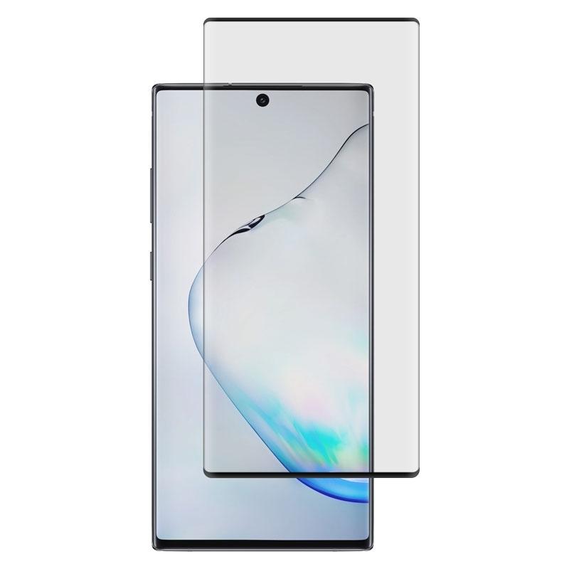 Ochranné sklo CaseFit na Samsung Galaxy Note10+ čierne
