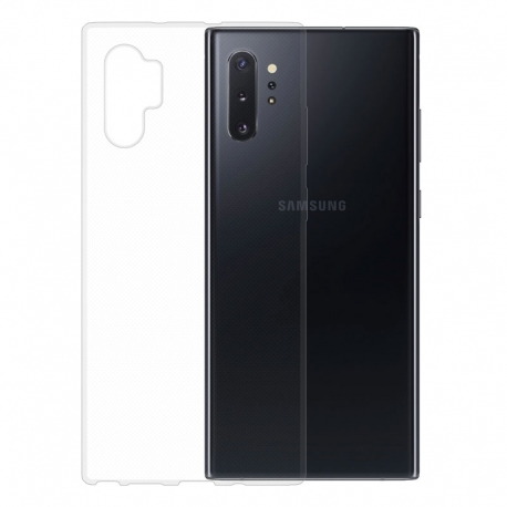Gumové pouzdro na Samsung Galaxy Note10 Plus transparentní