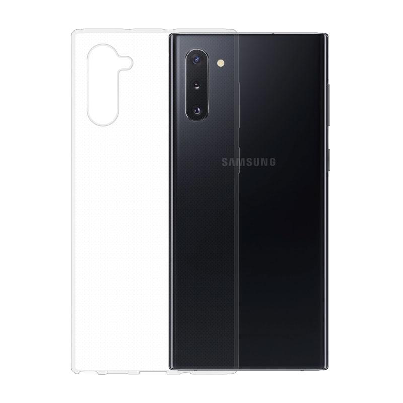 Gumené puzdro na Samsung Galaxy Note10 transparentné