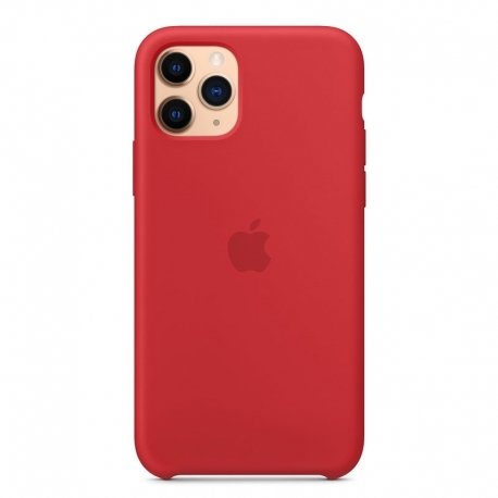 Silikonové pouzdro Apple na iPhone 11 Pro červené