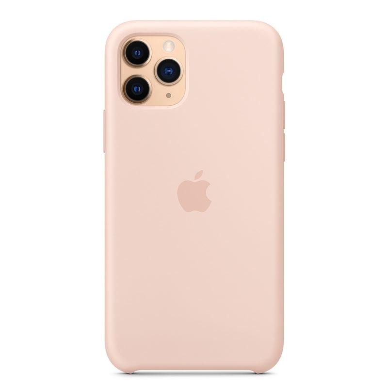 Silikonové pouzdro Apple na iPhone 11 Pro růžové