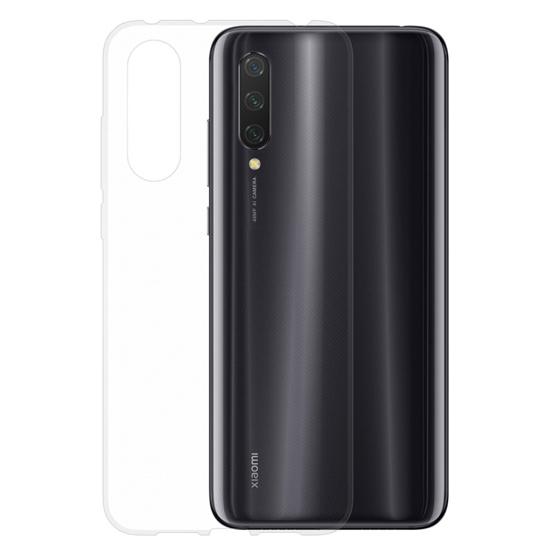 Gumové pouzdro Xiaomi Mi 9 Lite transparentní