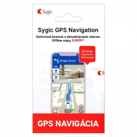 Sygic GPS Navigation Evropa Traffic HUD Dashcam lifetime
