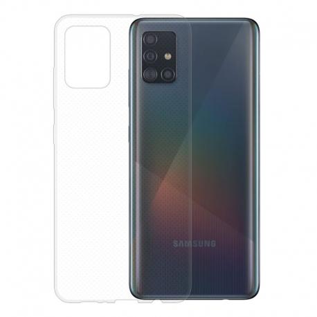 Gumové pouzdro na Samsung Galaxy A51 transparentní