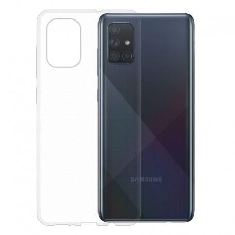 Gumené puzdro na Samsung Galaxy A71 transparentné