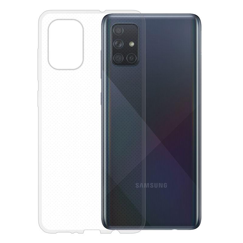 Gumové pouzdro na Samsung Galaxy A71 transparentní
