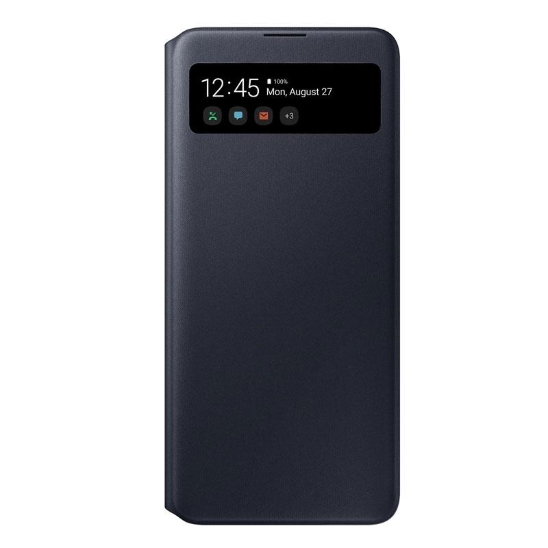 Samsung S-view cover EF-EA715PB na Galaxy A71 čierny