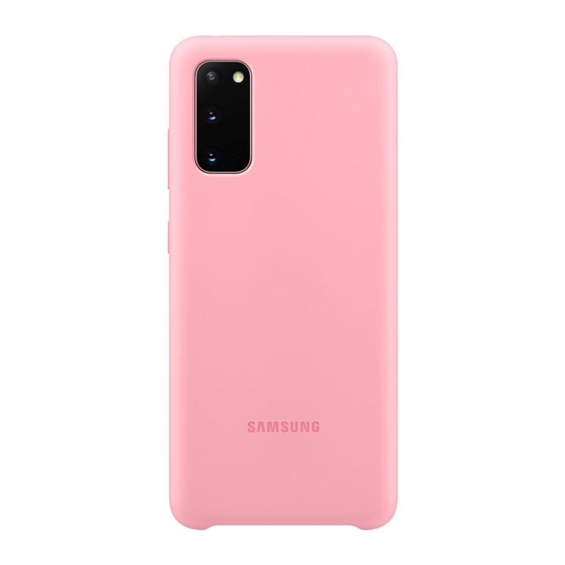 Samsung Silicone Cover pro Galaxy S20 růžový