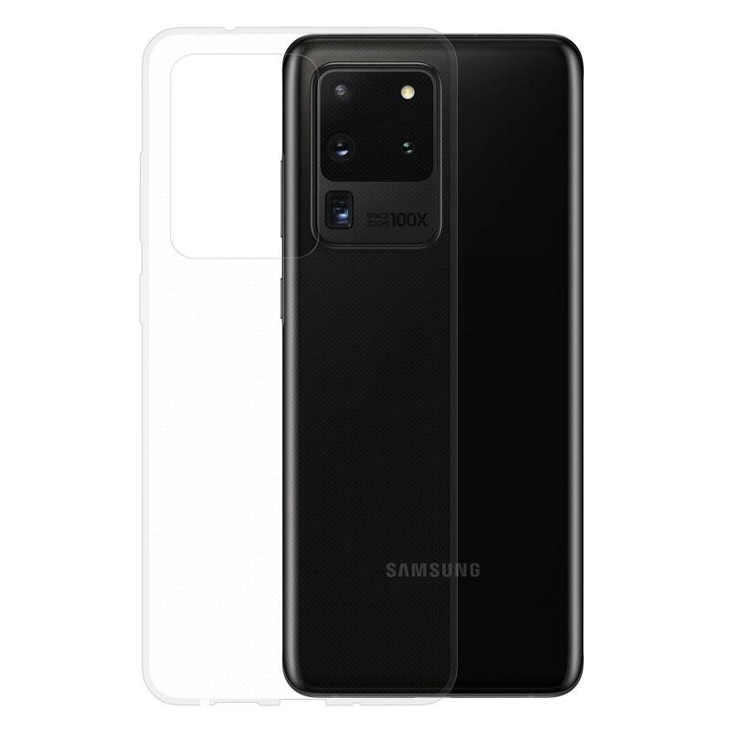 Gumové pouzdro na Samsung Galaxy S20 Ultra transparentní