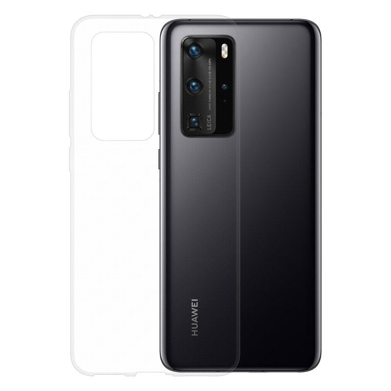 Gumové pouzdro na Huawei P40 Pro transparentní