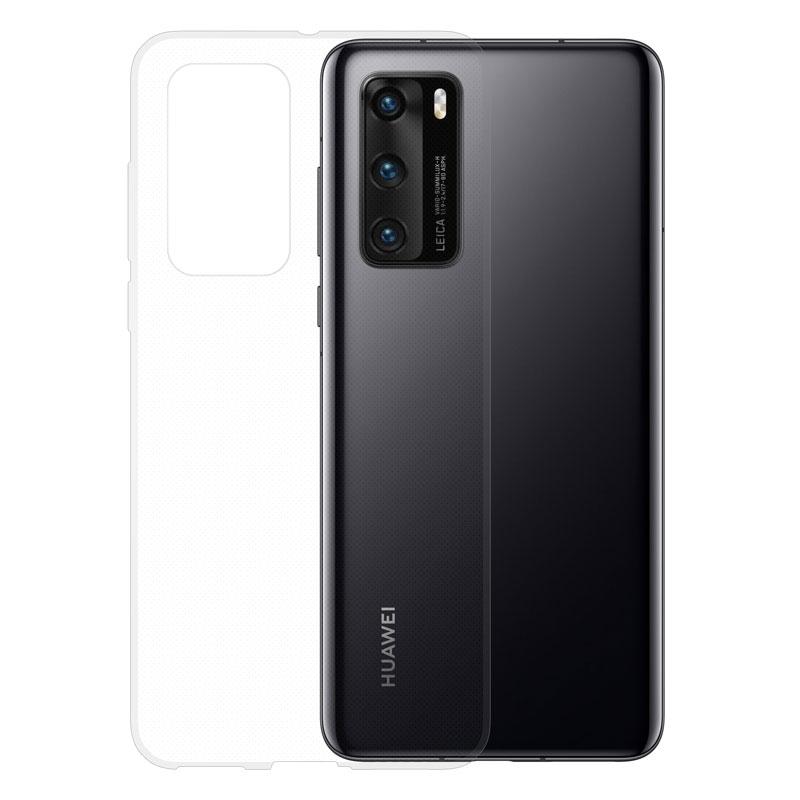 Gumené puzdro na Huawei P40 transparentné