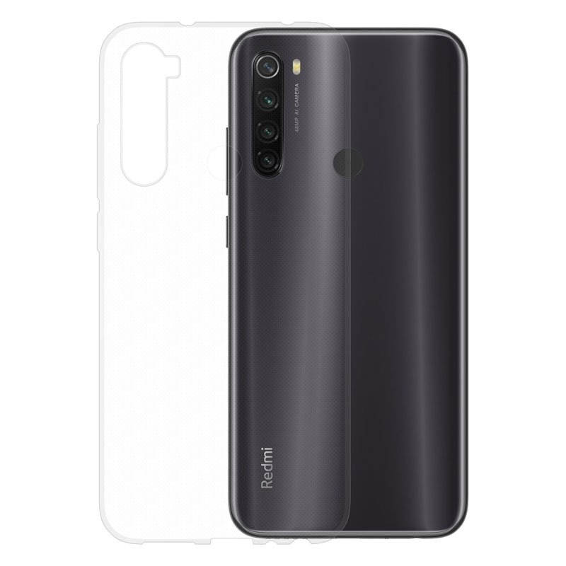 Gumené puzdro na Xiaomi RedMi Note 8T transparentné