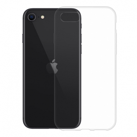 Gumené puzdro na Apple iPhone SE (2020) transparentné