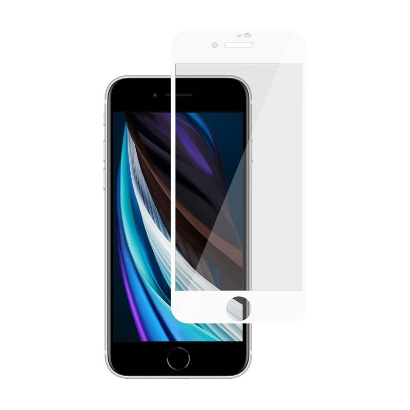 Ochranné sklo na Apple iPhone SE (2020) biele