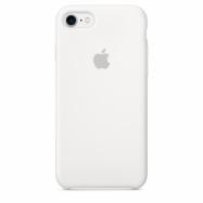 Originálne silikónové puzdro na Apple iPhone SE (2020) biele