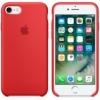 Originálne silikónové puzdro na Apple iPhone SE (2020) červené