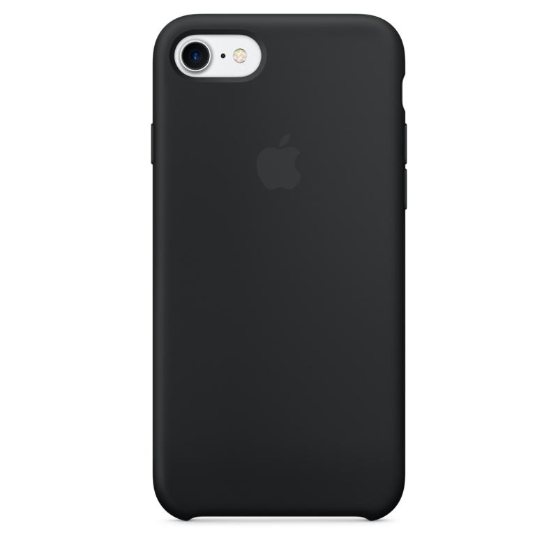 Originálne silikónové puzdro na Apple iPhone SE (2020) čierne