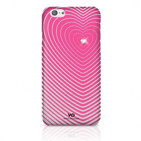 White Diamonds Heartbeat kryt Apple iPhone 6 růžový