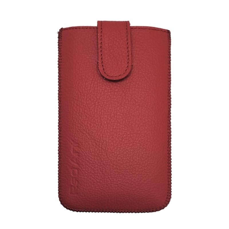 Univerzální kožené pouzdro velikost Samsung Galaxy S5 červené
