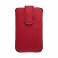 Kožená vsuvka na Samsung Galaxy S5 mini červená