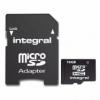 Micro SDHC paměťová karta integral 16GB class 4 s adaptérem