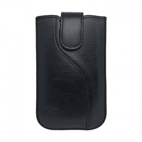 Univerzální ponožkové koženkové pouzdro velikost XL černé