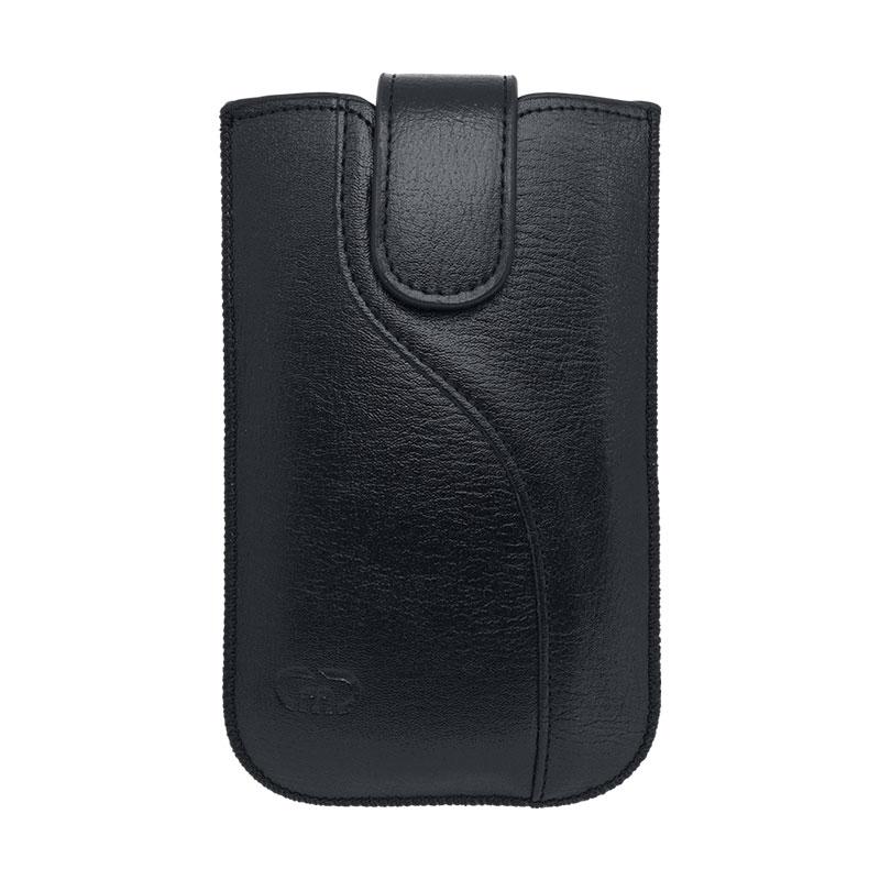 Univerzálne ponožkové koženkové puzdro veľkosť XL čierne