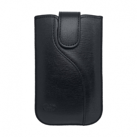 Univerzálne ponožkové koženkové puzdro veľkosť SL čierne