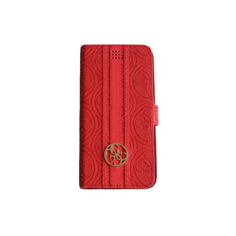 Guess flipové puzdro univerzálne na 4.6 až 5.2 zariadenia červené