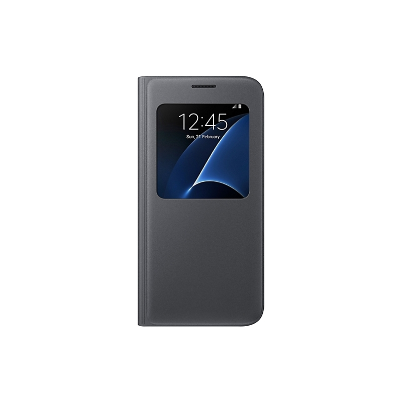 Samsung S-view cover EF-CG930PB na Galaxy S7 čierny