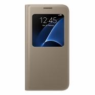 Samsung S-view cover EF-CG930PF na Galaxy S7 zlatý