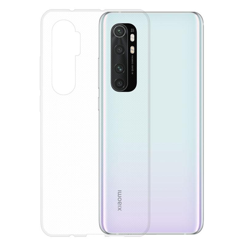 Gumené puzdro na Xiaomi Mi Note 10 Lite transparentné