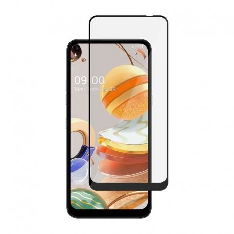 Ochranní sklo pro LG K61 černý rám