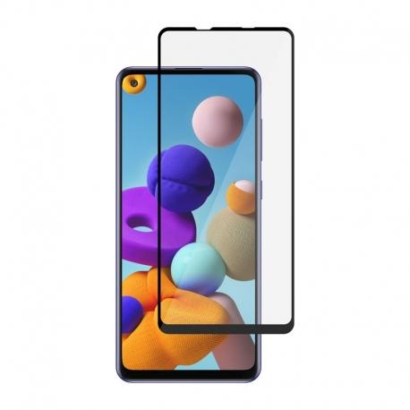 Ochranní sklo pro Samsung Galaxy A21s černý rám