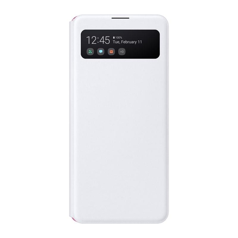 Samsung S-View cover pouzdro pro Galaxy A41 bílý