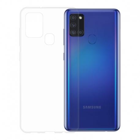 Gumové pouzdro pro Samsung Galaxy A21s transparentní