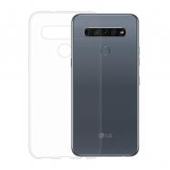 Gumené puzdro na LG K61 transparentné