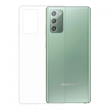 Gumové pouzdro Samsung Galaxy Note20 transparentní