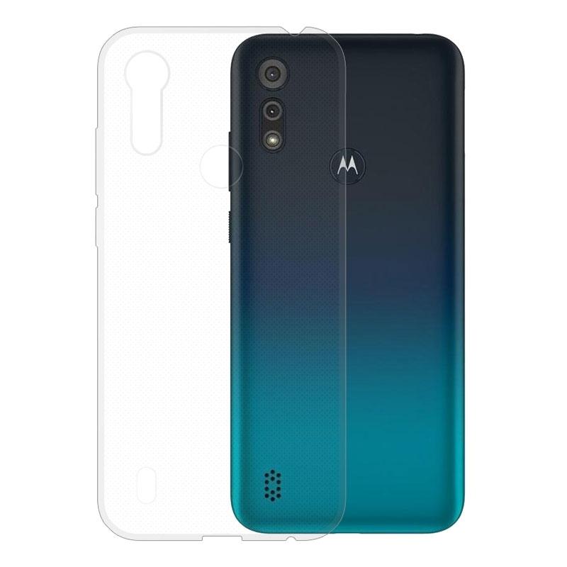 Gumové pouzdro Motorola Moto E6s transparentní