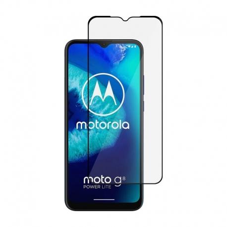 Ochranní sklo na Motorola Moto G8 Power Lite černé