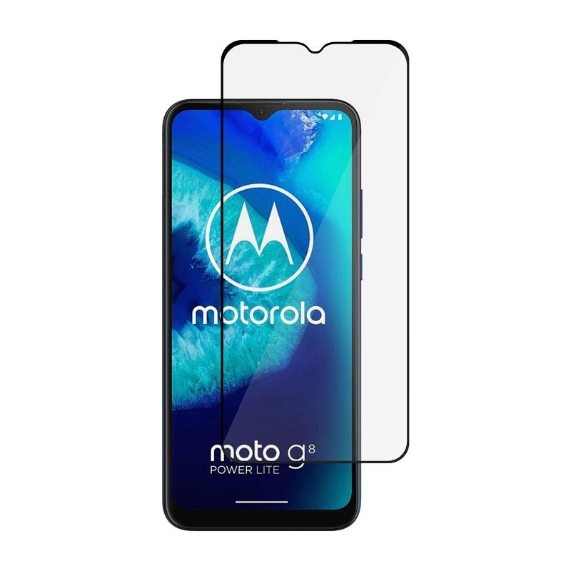 Ochranné sklo na Motorola Moto G8 Power Lite čierne