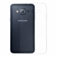 Gumové pouzdro SLIM pro Samsung Galaxy J3 transparentní